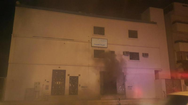 حادث حريق محطة كهرباء العنبرية بالمدينة المنورة  (1)