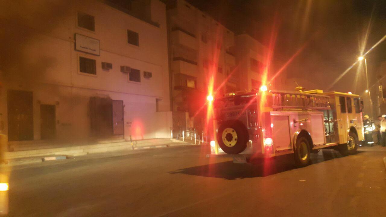 حادث حريق محطة كهرباء العنبرية بالمدينة المنورة  (2)