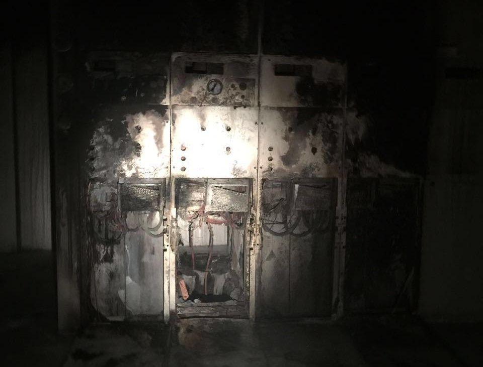 حادث حريق محطة كهرباء العنبرية بالمدينة المنورة  (3)