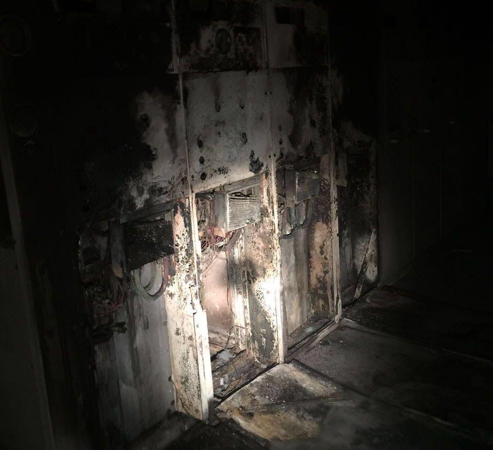 حادث حريق محطة كهرباء العنبرية بالمدينة المنورة  (5)