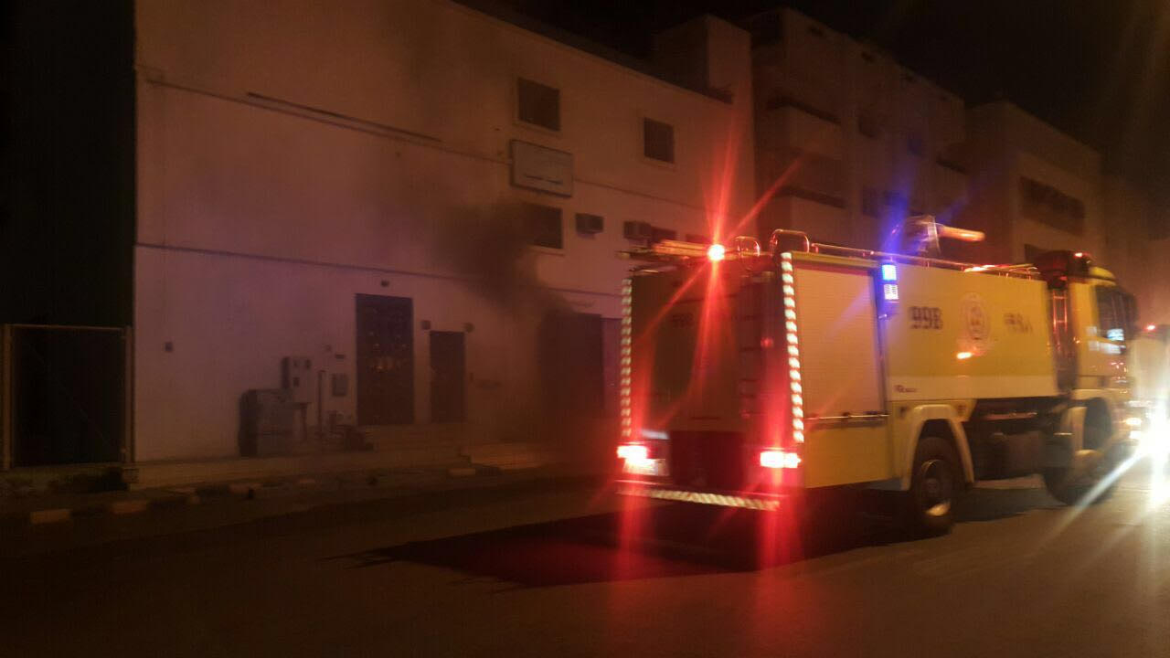 حادث حريق محطة كهرباء العنبرية بالمدينة المنورة  (6)