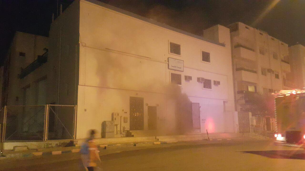 حادث حريق محطة كهرباء العنبرية بالمدينة المنورة  (7)