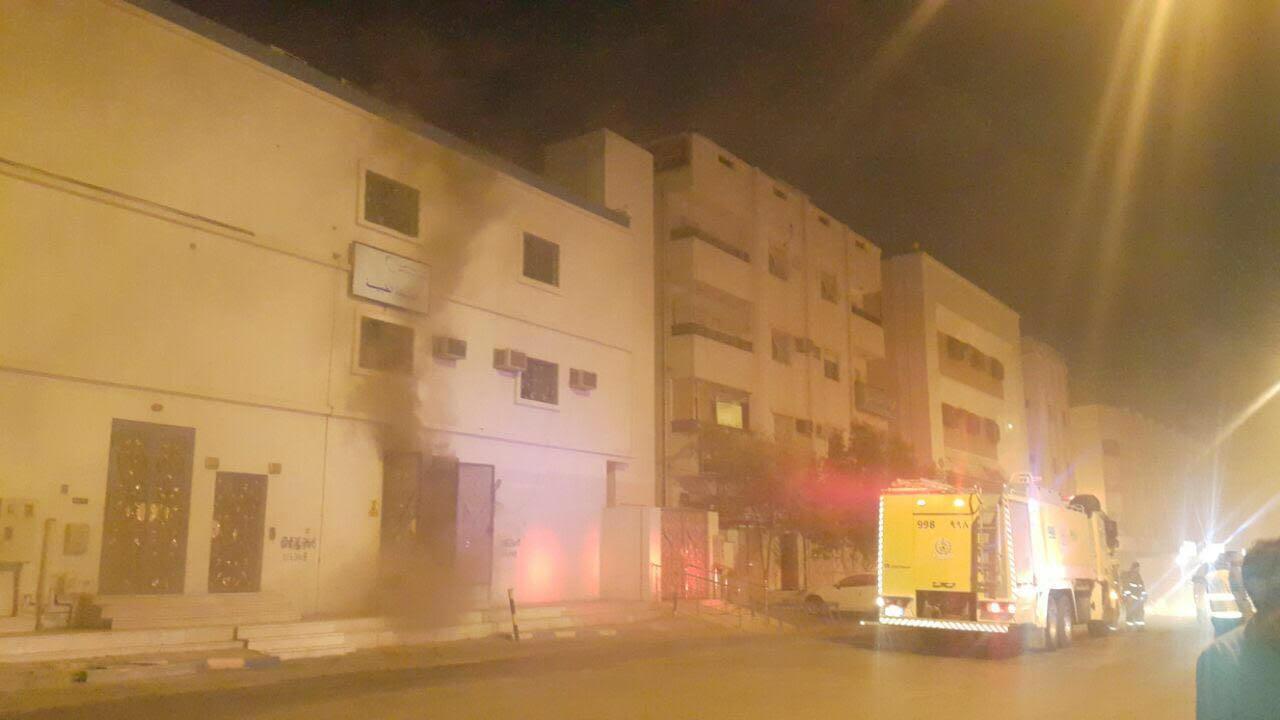 حادث حريق محطة كهرباء العنبرية بالمدينة المنورة  (8)