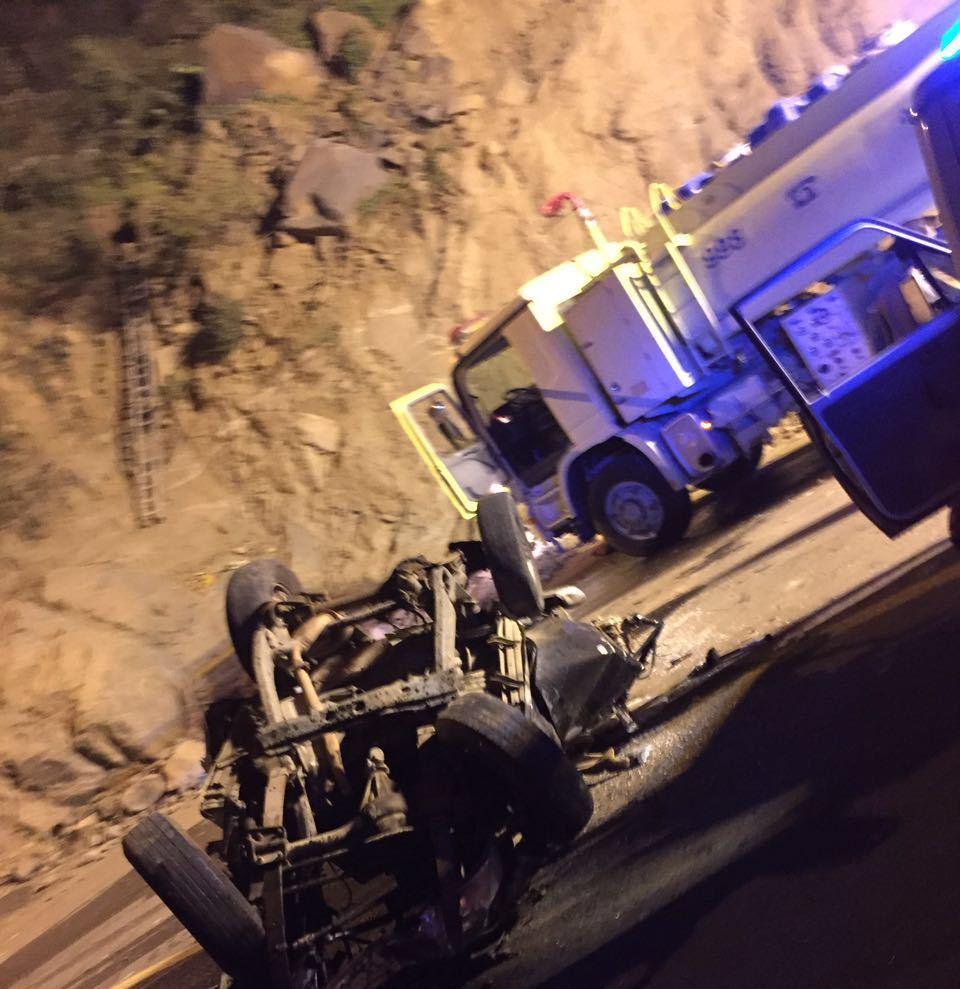 حادث سقوط مركبة بفيفا (3)