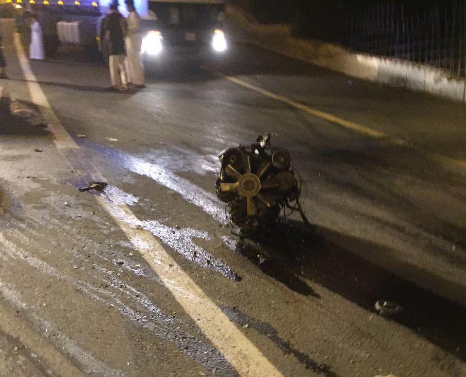 حادث سقوط مركبة بفيفا (4)