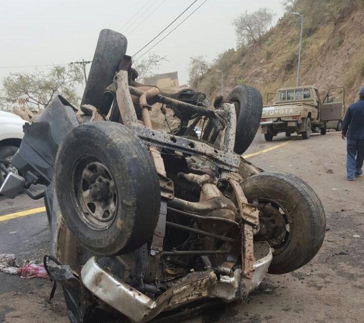 حادث سقوط مركبة بفيفا (6)