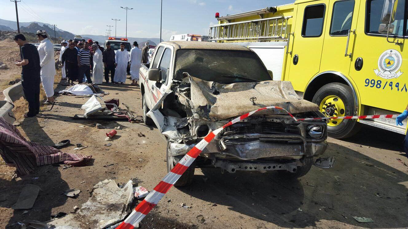 حادث مروري بسراة عبيدة (2)