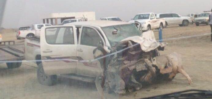 حادث مروري على طريق الحريضه بحر ابوسكينة.عصر امس