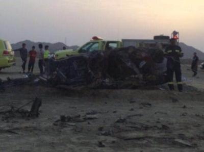 حادث مروري على طريق الحريضه بحر ابوسكينة.عصر امس11