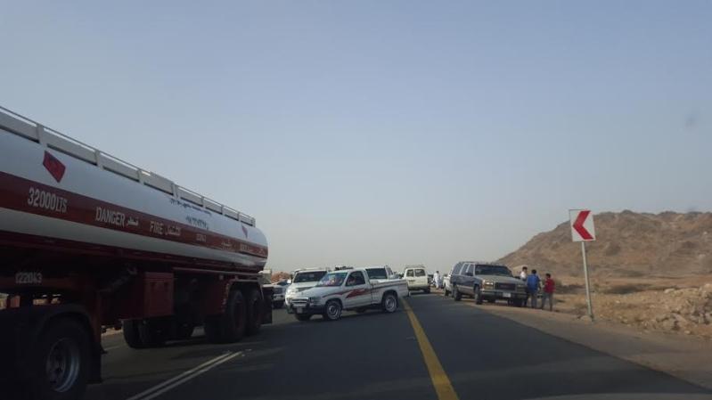 حادث مروع على طريق مركز ثربان1