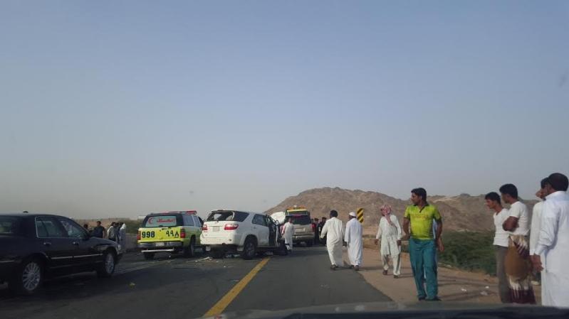 حادث مروع على طريق مركز ثربان2