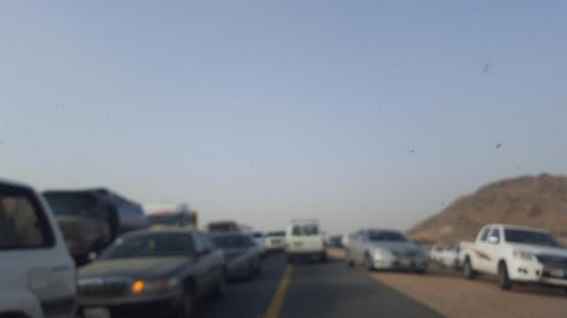 حادث مروع على طريق مركز ثربان3