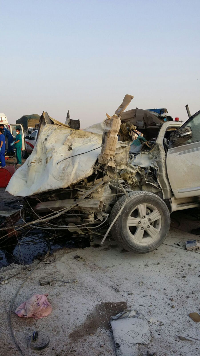 حادث مروع يتسبب بحالات وفاة وعدة إصابات بـ #بريدة (2)