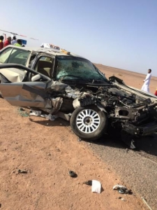 حادث معلمون ومعلمات بطريق الحناكية المهد1