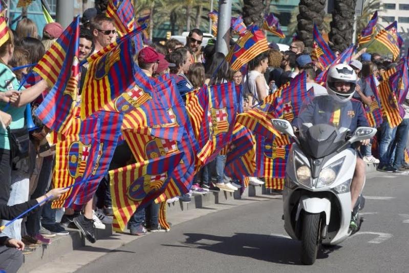 حافلة فريق برشلونة2