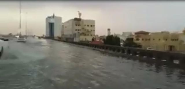 حال طريق الملك فهد في بريدة بعد الأمطار