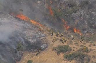 حرائق الغابات قرب لوس انجليس