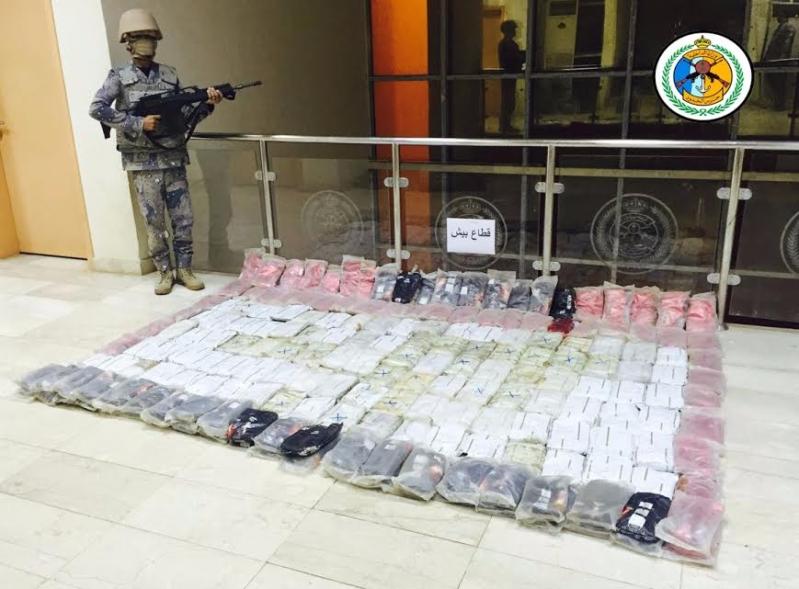 حرس الحدود بمنطقة جازان يحبط تهريب ٢١٢ كيلوجرام من الحشيش المخدر