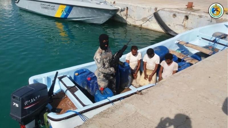 حرس الحدود بمنطقة جازن يحبط تهريب 175 كيلوجراما من الحشيش المخدر عن طريق البحر2
