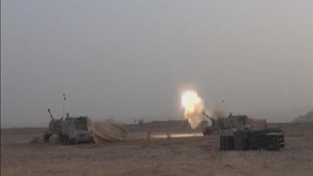 حرس-الحدود-يقصف-الحوثيين