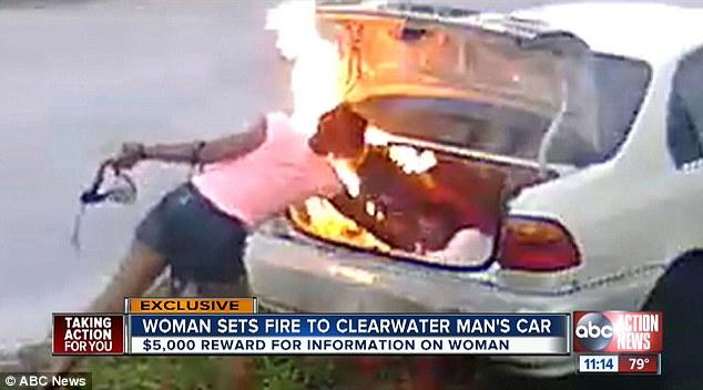 حرقت سيارة بالخطأ
