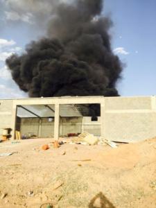 حريقاً شرق المنطقة الصناعية 3
