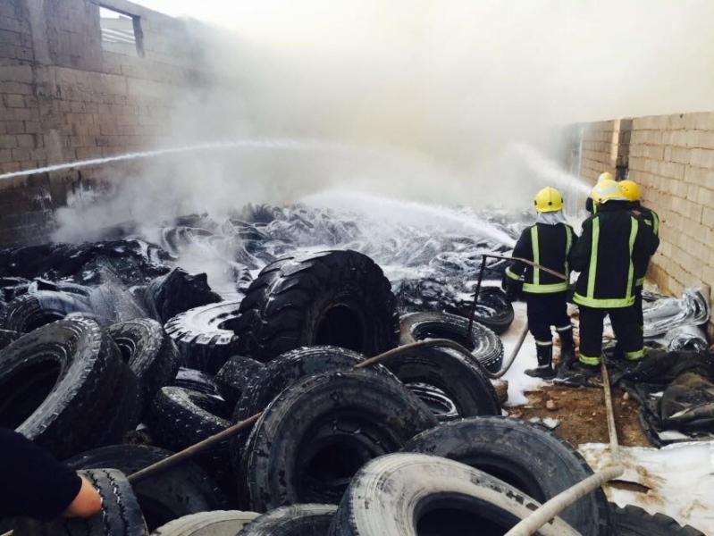 حريقاً شرق المنطقة الصناعية 4