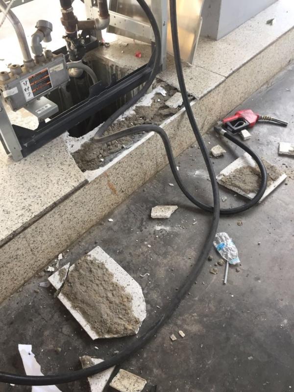 حريقة محطة وقود الدمام