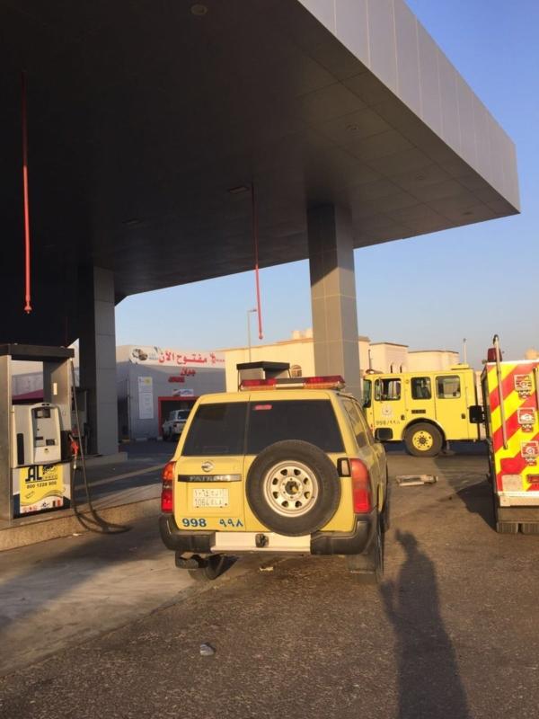 حريقة محطة وقود الدمام1