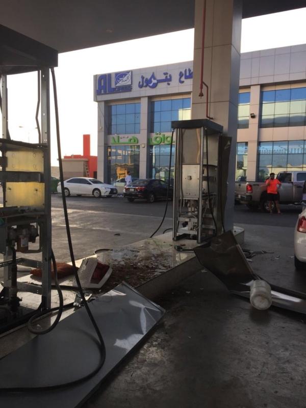 حريقة محطة وقود الدمام2