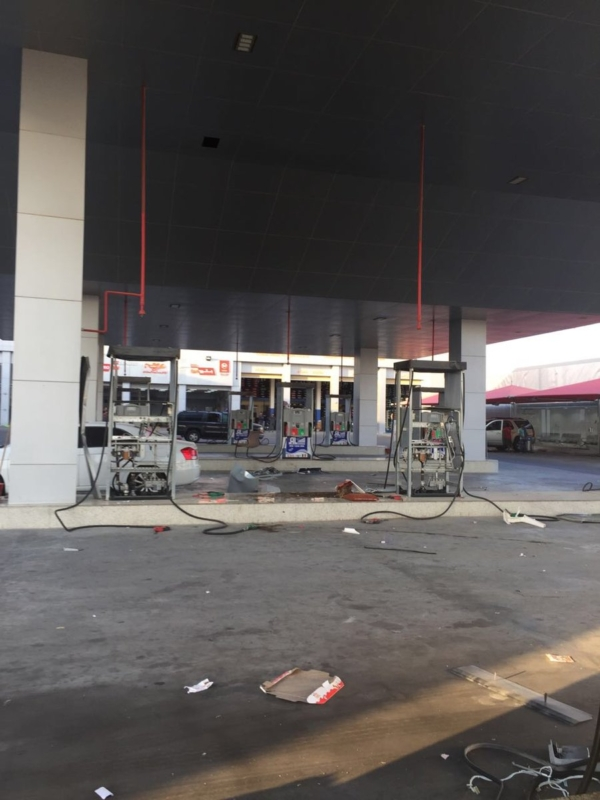 حريقة محطة وقود الدمام3