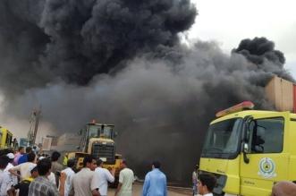 مدني #أبو_عريش يكافح حريقاً في أحد المستودعات - المواطن