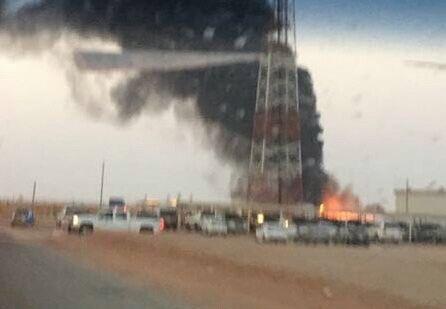 تفاصيل إصابة عددٍ من عمال #أرامكو بحريق خزان النفط بمنطقة الوسيع