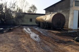 حريق خزان وقود بمشروع زراعي في الجوف - المواطن