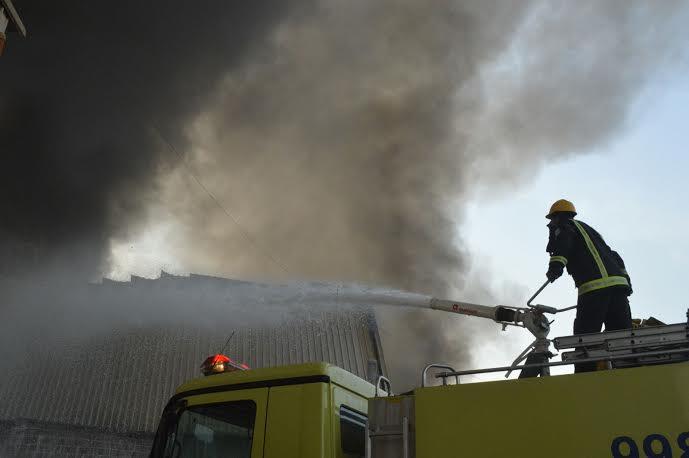 حريق - الدفاع المدني