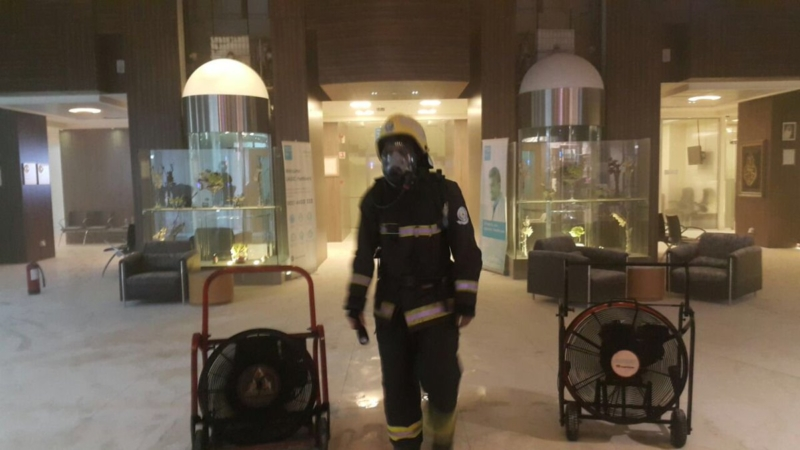 حريق المشفى1