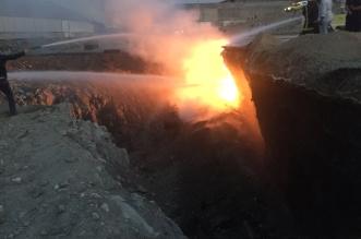 حريق في أرض بحرم محطة القطار برصيفة #مكة - المواطن