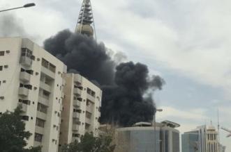 بالفيديو والصور.. حريق محدود بمبنى تحت الإنشاء قرب #برج_الفيصلية - المواطن