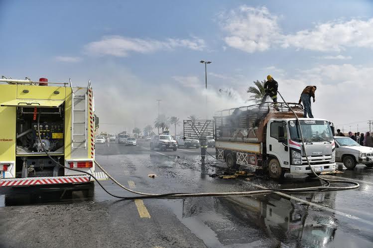 حريق بشاحنة6