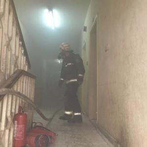 حريق بشقة في الرياض (1)