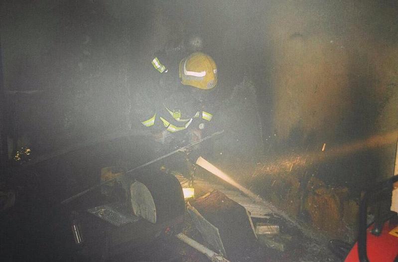 حريق بشقة في روضة رفحاء