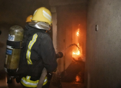حريق بشقة1