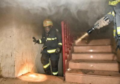 حريق بشقة4