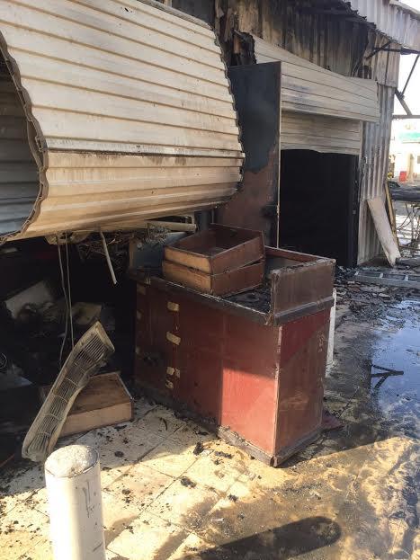 حريق بمحلات بريدة (1)