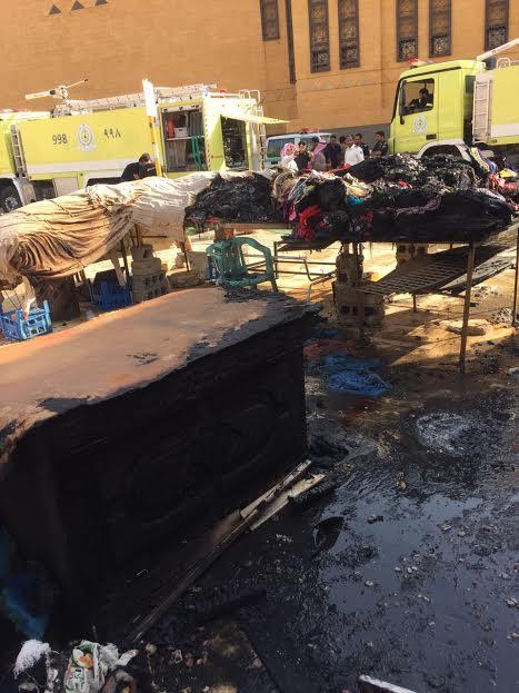 حريق بمحلات بريدة (167074646) 