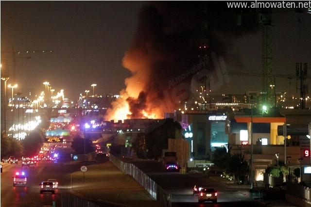 حريق-بمركز-الملك-عبدالله-المالي (1)