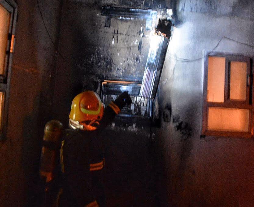 حريق بمسجد بسمراء حائل بسبب التكييف (3)