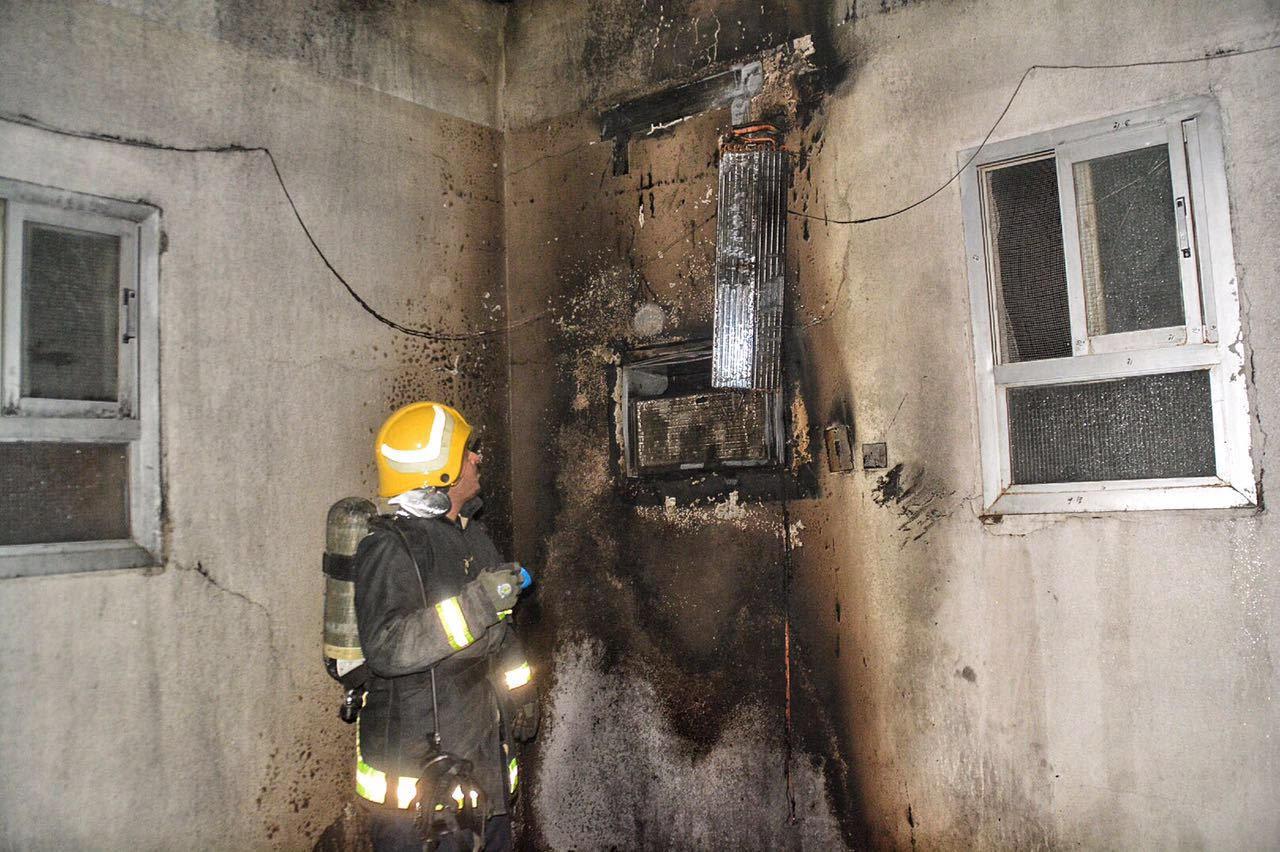 حريق بمسجد بسمراء حائل بسبب التكييف (4)