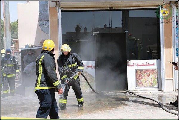حريق بمطعم رفحا (1) 
