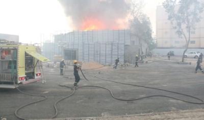 حريق حي الرصيفة